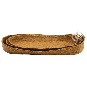 Montana Decorative Hand-Woven Natural Seagrass Basket - Mustard - Large