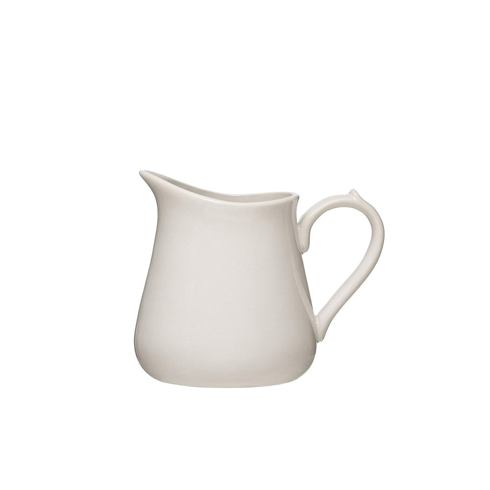 Carmen Vintage Reproduction Stoneware Pitcher - White - Small