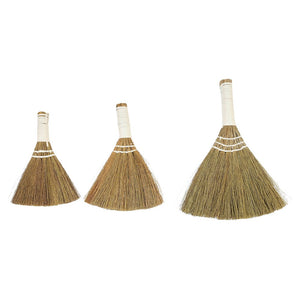 Flores Whisk Brooms w/ White Handle - Set of 3