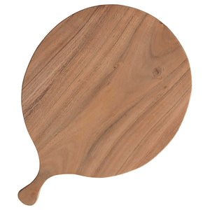 Showcase Round Acacia Wood Cheese/Cutting Board w/ Handle