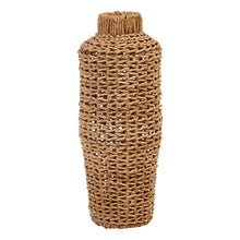 Haven Hand-Woven Water Hyacinth & Rattan Floor Vase