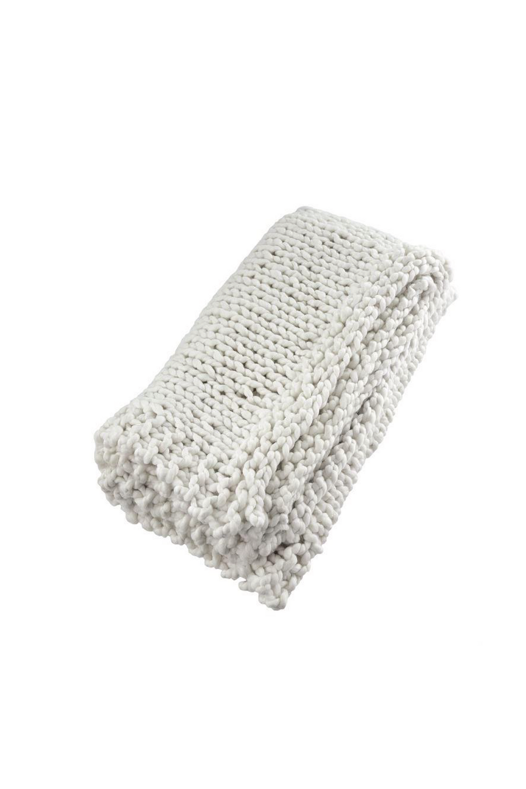 Labbelle Super Chunky Woven Throw - White