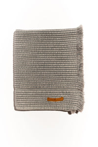Natalia Vintage Wash Bath Mat - Pale Grey