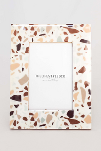 Indio Terrazzo Wood Photo Frame - 4x6