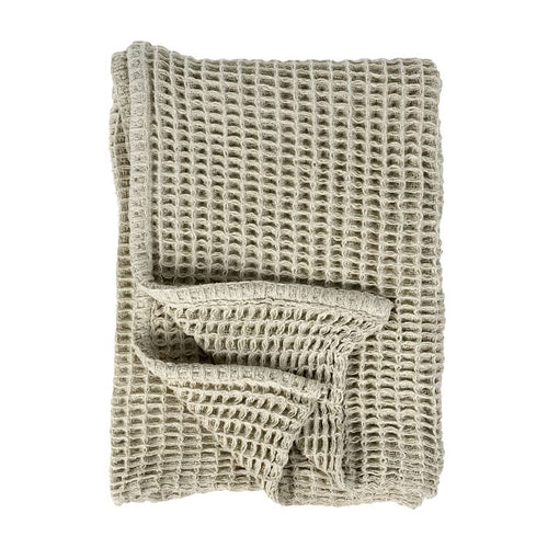 Wellie Waffle Woven Throw -  Natural