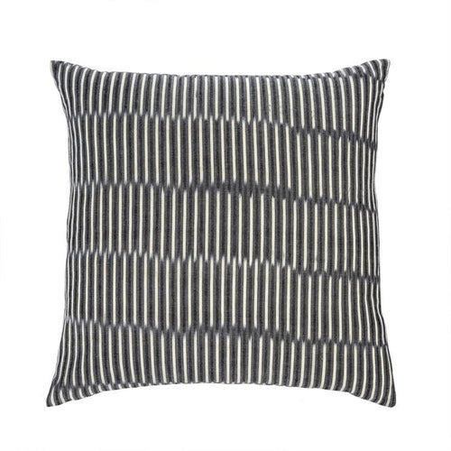 Black Vertical Stack Stripe Pillow