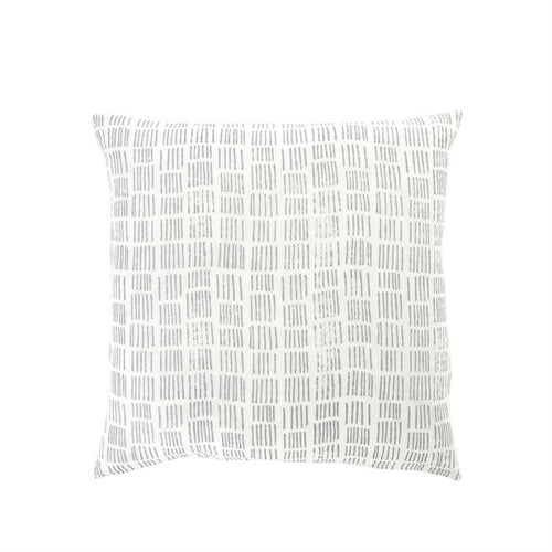 Bright White Hand Block Pillow