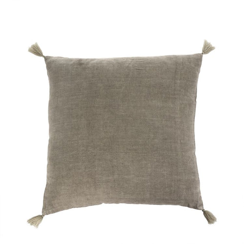 Desert Taupe Linen Pillow