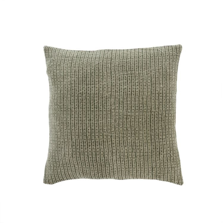 Oliver Block Print Linen Pillow