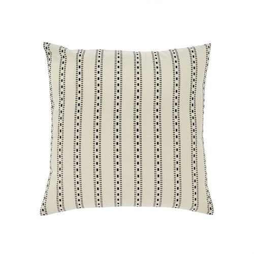 Stripe Kasuti Black White Pillow