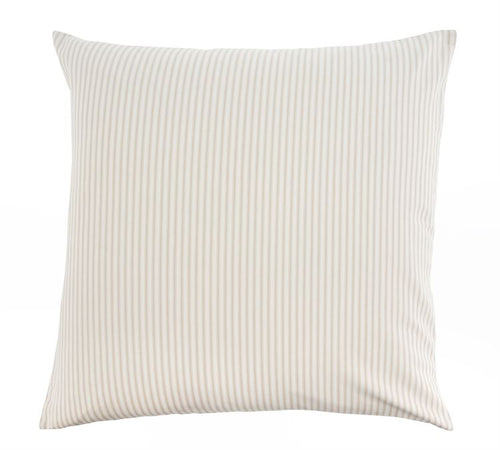 Palma Ticking Pillow 24x24 - Beige Stripe