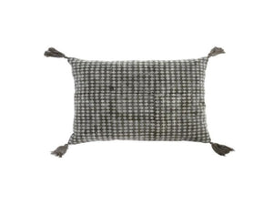 Charcoal Lisbon Block Print Pillow