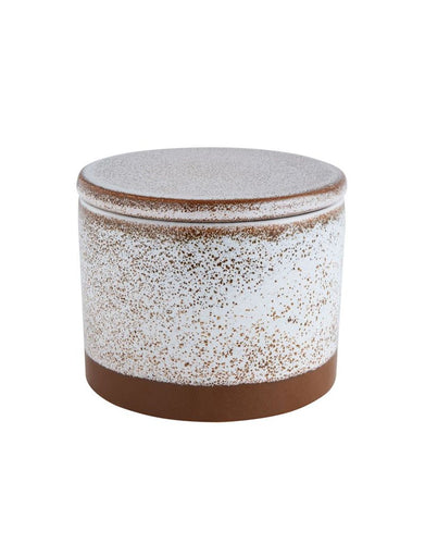 Speckled Stoneware Canister w/ Lid