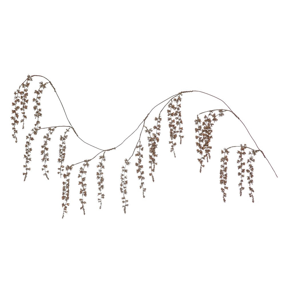 Good Tidings Faux Weeping Branch Garland w/ Gold Glitter