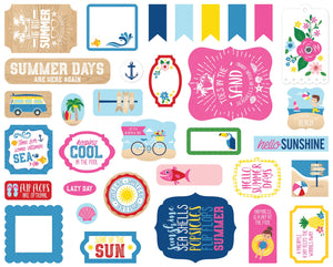 Echo Park Cardstock Ephemera 33/Pkg-Icons, I Love Summer