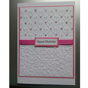 Flower and Butterfly Embossing Folders For Card Making