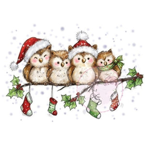 Christmas Birds Clear Silicone Stamp