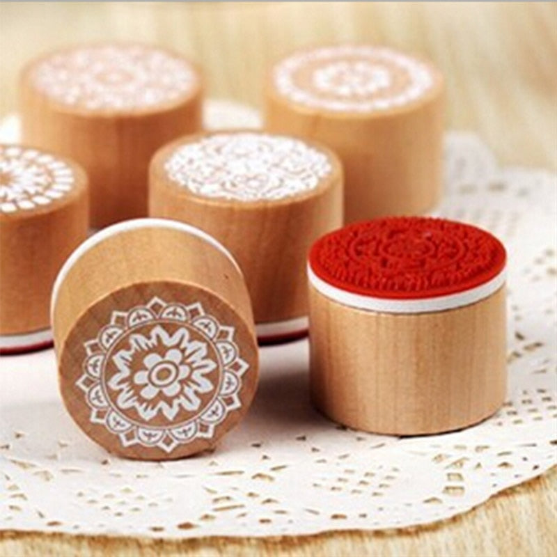 Wooden Rubber Mini Vintage Lace Stamp
