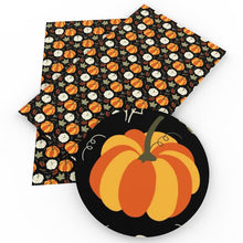Load image into Gallery viewer, 20*34cm Pumpkin Halloween Faux Artificial Synthetic Leather
