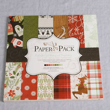 Load image into Gallery viewer, 12Inch 24sheets Christmas Vintage Paper Pack