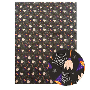 22*30 cm Faux Leather Sheet for Halloween (Assorted Patterns Available)