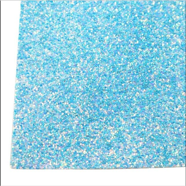 20*34cm Glitter Faux Synthetic Leather