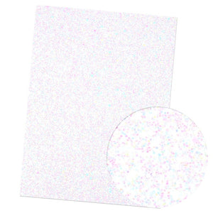 22*30CM Solid Neon Chunky Glitter Faux Leather Material Sheet