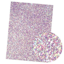 Load image into Gallery viewer, 22*30CM Solid Neon Chunky Glitter Faux Leather Material Sheet