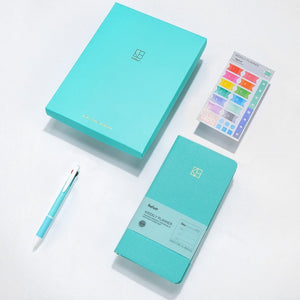 Pure Color Pocket Weekly Planner Notebook Set (88 Sheets, 19.1*9.8cm)