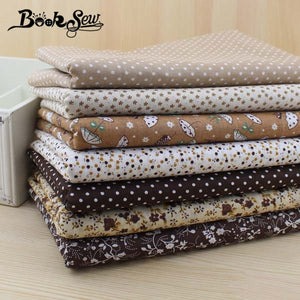 7 pieces 50cm*50cm Cotton Fabric (Vintage Brown)