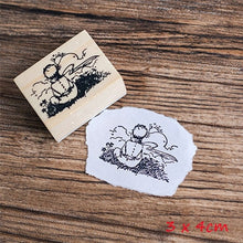 Load image into Gallery viewer, Vintage Cartoon Little Prince Wood Stamp