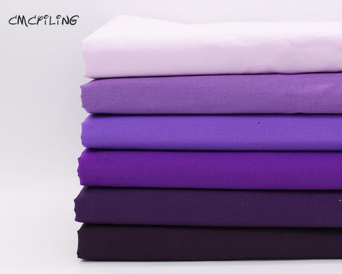Shades of Purple Cotton Fabric for Sewing and Quilting