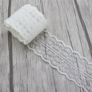 Lucia crafts 5yards/lot 45mm Embroidered Net Lace Trim Fabric