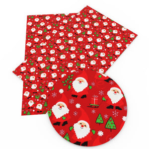 20*34cm Christmas Faux Synthetic Leather With Assorted Designs