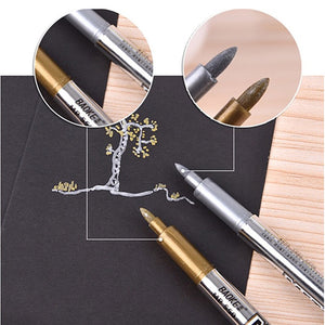 2pcs Gold and Silver Metallic Color Pens