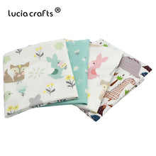 Load image into Gallery viewer, 1pc 50*50cm Cotton Cartoon Printed Fabric Materials For Baby & Child