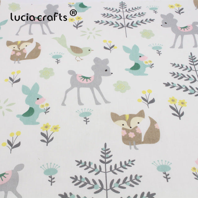 1pc 50*50cm Cotton Cartoon Printed Fabric Materials For Baby & Child