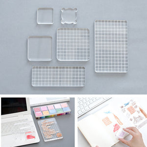 Acrylic Clear Stamp Blocks Essential Stamping Tools for Scrapbooking and Card Making