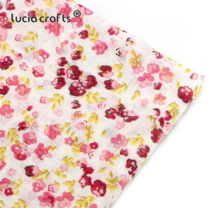 Lucia crafts 1 piece 50*50cm Red Range Print Cotton Fabric