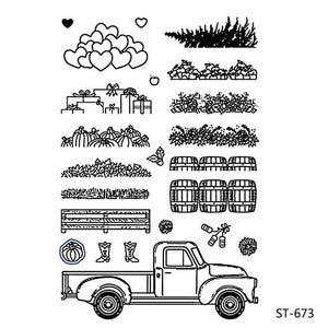 Big Truck Clear stamps and Metal Cutting Dies Set