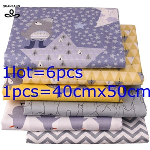 6pcs/lot or 50x160cm/piece Printed Twill Cotton Fabric
