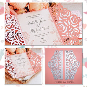 Wedding Invitation with Lace Borders Dies