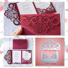 Load image into Gallery viewer, Wedding Invitation with Lace Borders Dies