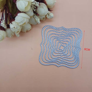 Nesting Metal Cutting Dies (Scalloped, Stitched, Rectangle, Oval, Star, Square, Circle, Frame)