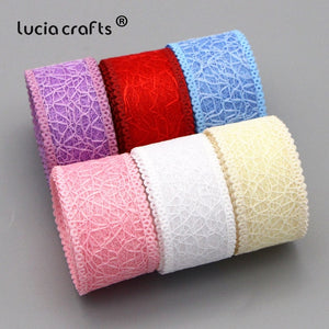 5Yards/6Yards 25mm Hollow Mesh Lace Trim