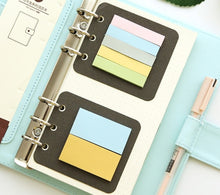 Load image into Gallery viewer, Transparent loose leaf binder, A6,  A7 note book, bullet journal, a5 planner, office supplies