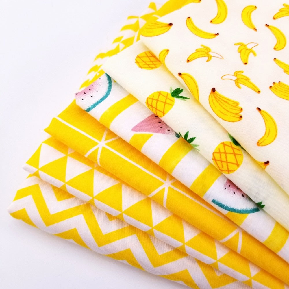 Yellow High Quality Breathable Cotton Twill Fabric for Quilting