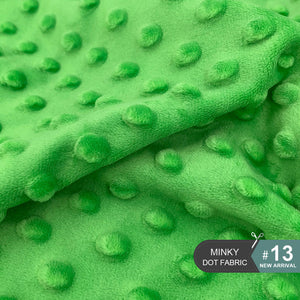 45x45cm 30Colors Super Soft Minky Dot Anti-Pilling Fabric
