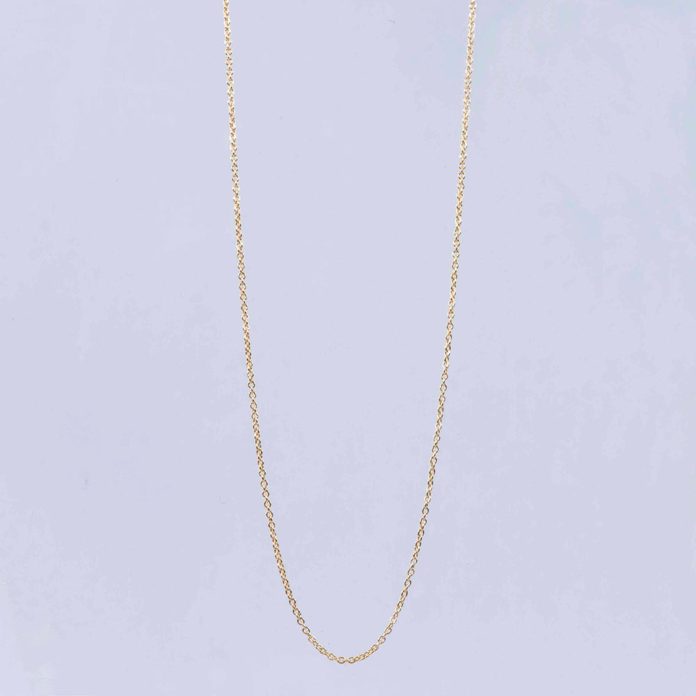 Sterling Silver and 18ct Yellow Gold Trace Link Chain