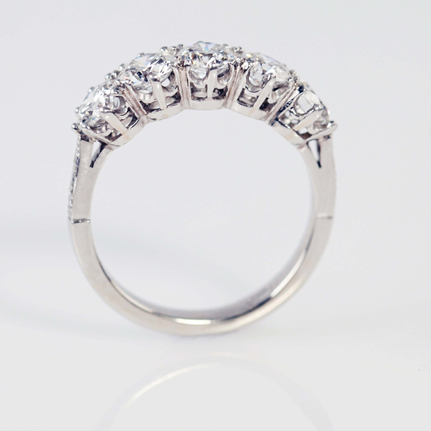 Five Stone Brilliant Cut Diamond Ring
